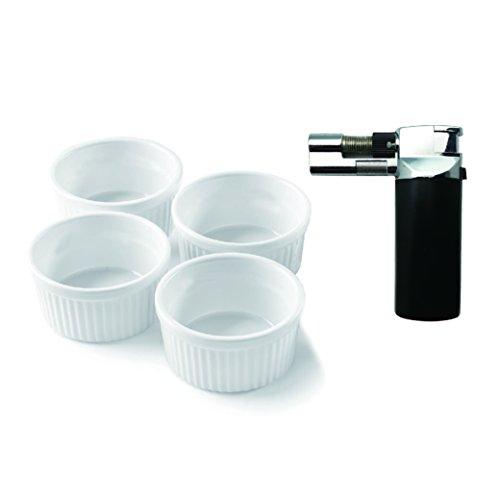 A-One cocina herramienta negro Micro Soplete Flambeador Con 4piezas redondo (4unidades)