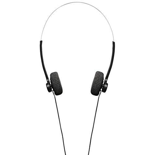 Hama Stereo Kopfhörer On-Ear (Retro Design, angenehme Polsterung, guter Sound, 1,20 m Kabel, Bügel-Kopfhörer) schwarz/silber Ω-serie