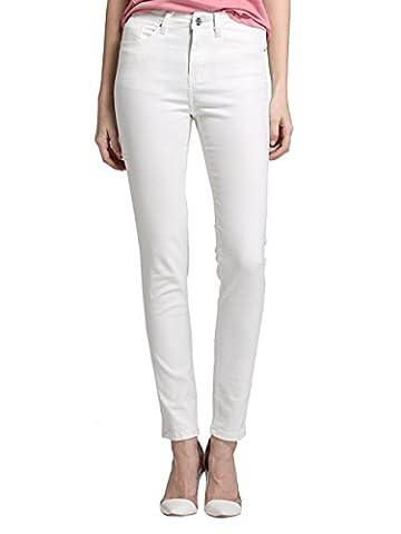 Alice & Elmer Jeans Stretch Taille Haute Skinny,Pantalon Femme,Jeans Femme,Blanc 31