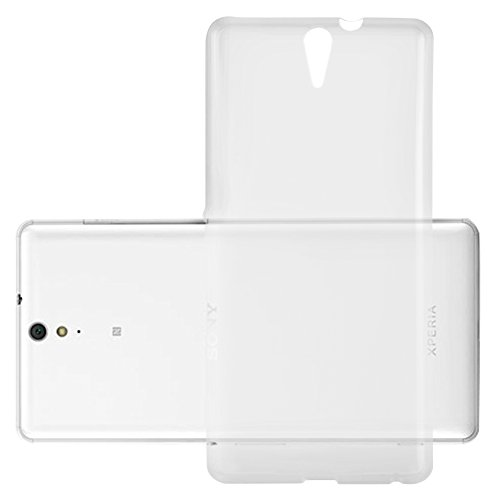 Cadorabo Hülle für Sony Xperia C5 Ultra - Hülle in VOLL TRANSPARENT – Handyhülle aus TPU Silikon im Ultra Slim 'AIR' Design - Silikonhülle Schutzhülle Soft Back Cover Case Bumper