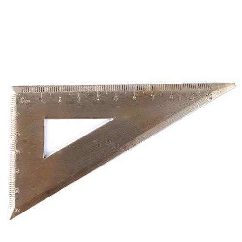Pinhan Retro Messing Math Winkelmesser Lineal Geometrie Skala Math Kit Student School Büro Winkel Messung Liefert, Dreieck