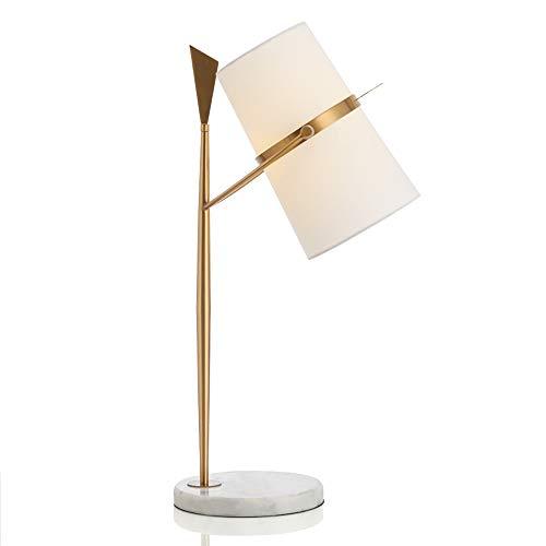 Lampes de table post-modernes en fer, luxe européen LED tissu blanc éclairage en marbre éclairage de bureau décoratif nordique hôtel salon bureau protection des yeux lampe de table