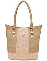 ESBEDA Beige Solid Pu Synthetic Material Handbag For Women