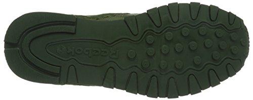 Reebok Classic Leather Clip Ele, Scarpe da Ginnastica Basse Uomo Verde (moss Green/primal Green/canopy Green)