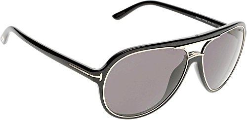 Tom Ford Herren FT0379 01A 60 Sonnenbrille, Schwarz (Nero Lucido/Fumo),