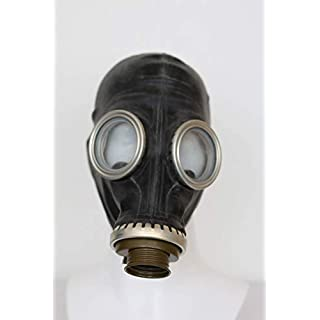 OldShop Gas Mask GP5 Set - Soviet Russian Military Gasmask REPLICA Collectable Item Set W/ Mask, Bag & Bonus Anti-Fog Stickers Included - Authentic Look & Several Color: Black | Size: M