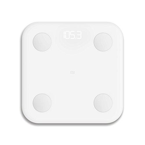 Xiaomi Mi Body Composition Scale. Tipo: Báscula personal electrónica, Capacidad máxima de peso: 150 kg, Precisión: 100 g. Pantalla: LED. Ancho: 300 mm, Profundidad: 300 mm. Cantidad por paquete: 1 pieza(s). Tipo de batería: AAA, Tecnología de batería...