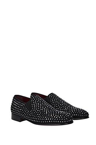 A50020AC5038S485 Dolce&Gabbana Pantoufle Homme Chamois Noir Noir