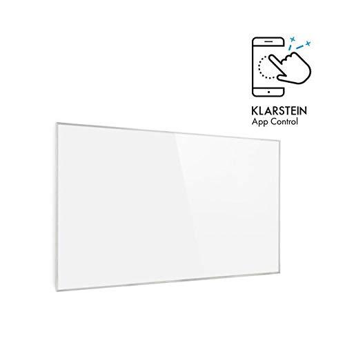 Klarstein Wonderwall White Edition - Calefactor infrarrojos inteligente, 50 x 90 cm, Rendimiento a 450W...