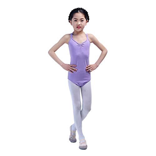 Kindertanzkostüme für Mädchen Wettbewerb, Trikotanzug Ballett/Tanz/Gymnastik Tutu Rock Dancewear Kostüm ärmelloser Body Jumpsuit