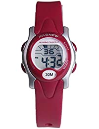 eb40ec176105 TD Reloj Infantil Lindo Chico Digital Reloj Electronico Impermeable Reloj  De Pulsera (Color   Rojo