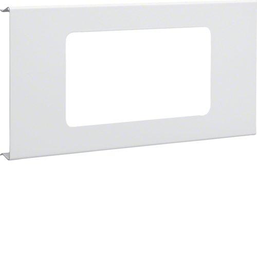 Preisvergleich Produktbild Hager R92829001 Blende 2-fach R7 Stahl B RS OT 120 cweiß