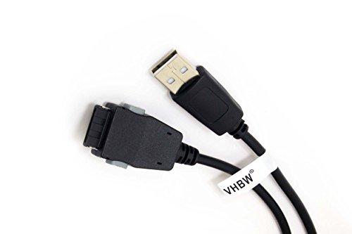 vhbw 1,0 m USB-Kabel für Samsung SGH-E620, SGH-E720, SGH-E810, SGH-i300, SGH-i300x, SGH-P730, SGH-S341i, SGH-S342i, SGH-Z110, SGH-Z130, SGH-Z140, u.a.