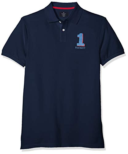 Hackett New Classic Polo, Azul (Navy 595), Large para Hombre