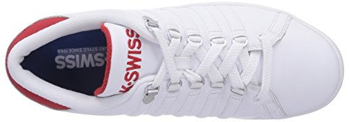 K-Swiss LOZAN III, Low-Top Sneaker uomo Bianco (Weiß (WHITE/RED 119))