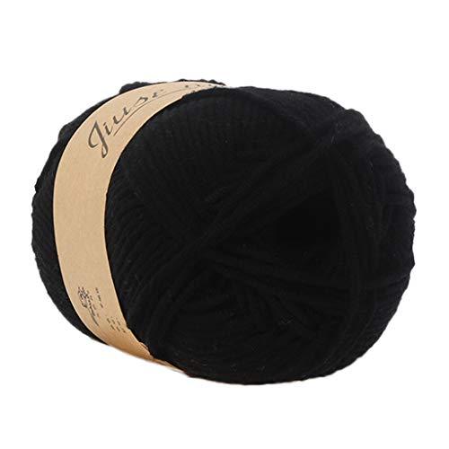 Cooljun Fil de Laine à Tricoter Pull écharpe en Coton - Laine en Acrylique – Assortiment de Couleurs – Idéal pour Tout Projet de Tricot et de Crochet (C1)