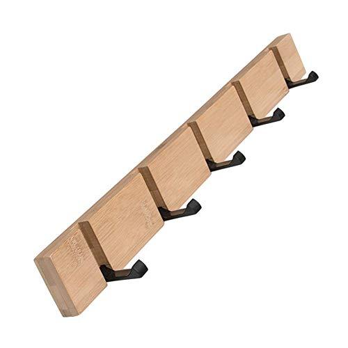LARRY SHELL Faltbarer Garderobenständer, Wandgarderobenhaken für hohe Beanspruchung, Handtuchhalter-Schlüsselhalter-Hakenständer für das Badezimmer im Eingangsbereich (Wand Heavy-duty-garderobe Montiert)