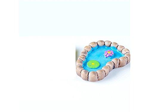 Milpo Linda Miniatur-Teich, Lotuspflanzen-Dekoration, für Kleine Dekorationen, Blau