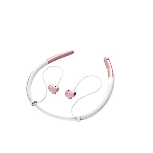 Iiintow Q14 Drahtloses Bluetooth-Headset Sport Kopfhörer Hängender Hals Laufen Ohrstöpsel Ohr Binaurale Stereoanlage,Pink