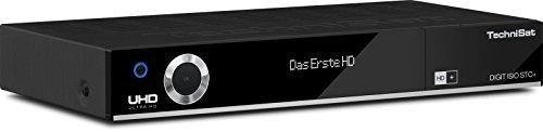 TechniSat DIGIT ISIO STC+ Digital-Kombi-Receiver mit dreifachem Twin-Tuner für Empfang in HD und UHD - 4K, mit WLAN, Ethernet und Timeshift-Funktion, inkl. HD+ Smartcard, schwarz