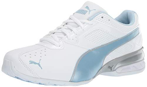 Puma - Tazon 6 FM Donna, Bianco White-Cerulean Silver, 39 EU