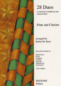 Twenty Eight Duos For Flute And Clarinet. Partitions pour Flûte Traversière, Clarinette