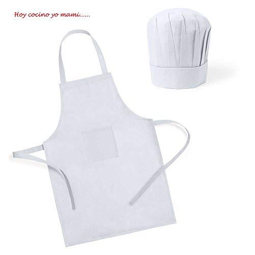 Lote 25 Delantales + Gorro Infantil Pequeños Cocineros