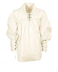 Widmann wdm67656-Kostüm für Erwachsene Hemd Fechter Creme, Weiß, M