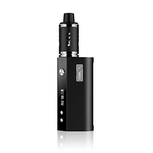 Tagaremuser E-Zigarette Starterset, 80 W USB Ladung Elektronische Zigarette /2000 mAh Akku E Shisha Starterset Hochauflösende LED-Anzeige, Gewinde Ohne Nikotin Keine schädlichen Giftstoffe Kein unangenehmer Geruch (Schwarz)