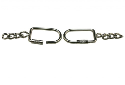 Amanaote Metall silbrig 1,7cm Breite innen Gewinde Drehbar Rechteck Schnalle mit Kette für Handtasche Koffer Zubehör (Großhandel Handtasche Portemonnaie)