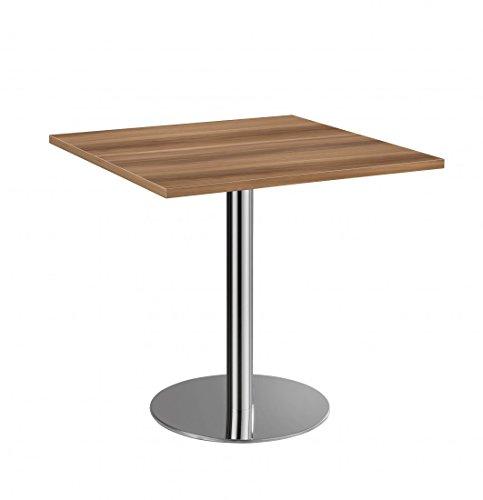 Besprechungstisch DR-Büro Serie VSTF 80x80 cm - Höhe 74,5 cm - Meetingtisch 7 Farben - Gestell Chrom, Farbe Büromöbel:Eiche -
