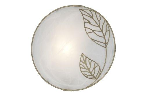 Brilliant Anais Wand und Deckenleuchte, 1x E27 maximal 53W, Metall/Glas, weiß-alabaster/gold 93984/70 -