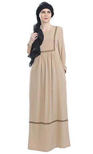 East Essence - Robe - Solid - Manches Longues - Femme Bleu Marine