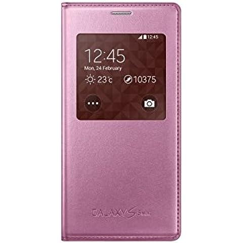 Samsung S-View - Funda para Samsung G800F Galaxy S5 mini, color rosa