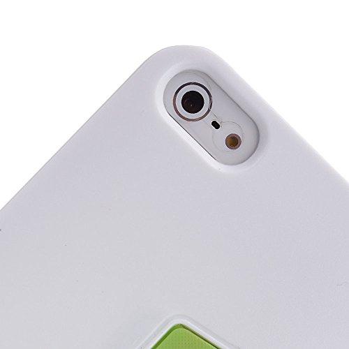 Kroo Étui à rabat pour iPhone 4/4S Purple and Black Green and White