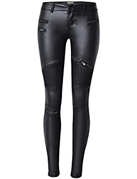 YiLianDa Donne Punk Stile Stretch Pu Pelle Pantaloni Leggings
