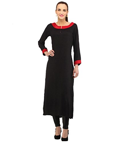 Fusion Multicolor Cap Half Long Short Sleeve sleeveless Kurtis Kaftan for Girls (GT1-KBR-BLR-XXL)