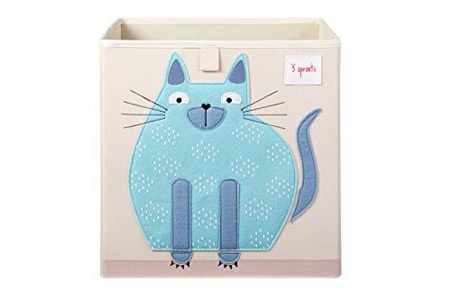 3 Sprouts Aufbewahrungsbox Regalbox 33 x 33 x 33 cm Motiv Katze (Sprouts Aufbewahrungsbox)