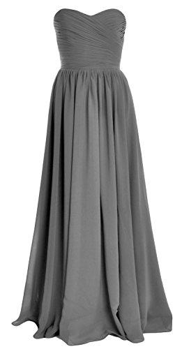 MACloth - Robe - Trapèze - Sans Manche - Femme Gris
