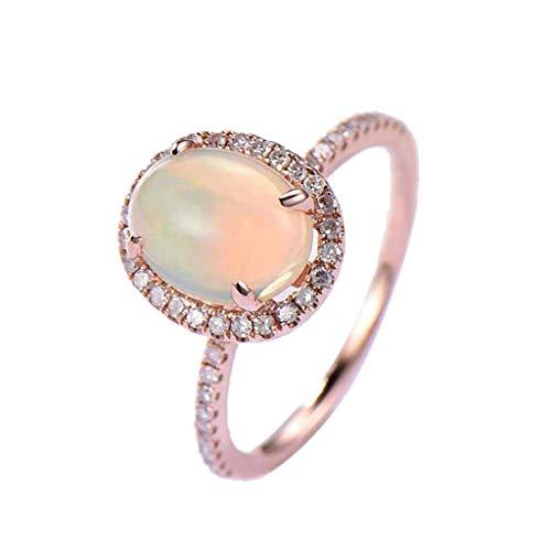 Klingeln,Diamant Kunststein geometrische Runde durchbrochene Ring Damen Schmuck,ring gold damen gehämmert,Rose Gold, (Ring Silber Ewigkeit Granat)