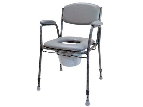 Drive Medical Toilettenstuhl TS 130, schwarz-silber