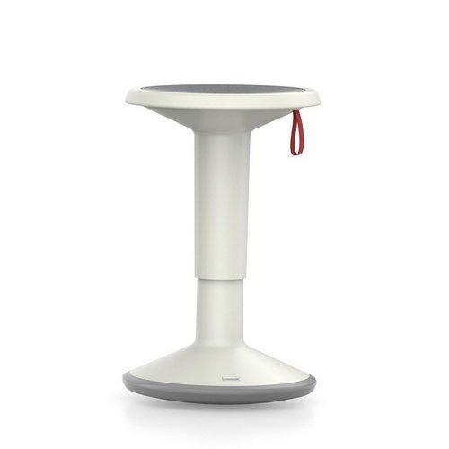 Interstuhl Mehrzweck-Hocker UPis1 - für Das dynamische Sitzen Arbeitshocker (grau-weiß)