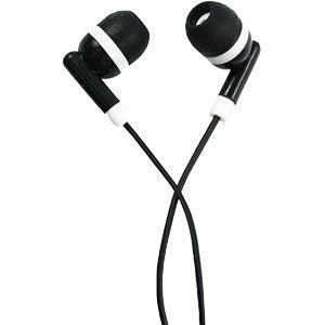 CellularOutfitter Sound Vector 3.5mm Stereo Earphones - Binaural Earbuds - Black w/White Accents Gumy Phones