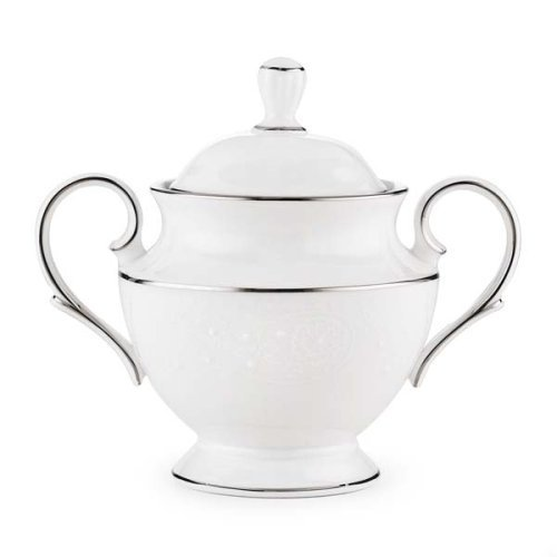Lenox China (Lenox Floral Veil Bone China Platinum Banded Sugar Bowl by Lenox)