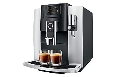 JURA E8 Platinum 2018 Fully Automatic Espresso Machine 1.9L Black, Platinum - Coffee Maker (Freestanding, Espresso Machine, 1.9 L, Integrated Grinder, 1450 W, Black, Platinum)