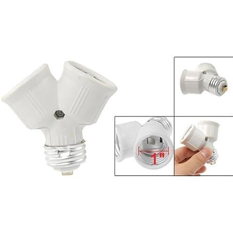 JACKY LED E27 a E27 Bombilla Socket 2 Splitter convertidor Color: tono de plata, modelo: 107, Hogar y Herramientas