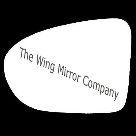 Nissan Qashqai (J10) 2006,2007,2008,2009,2010,2011,2012,2013Argento Ala/porta vetro a specchio sx (lato passeggero) - Nissan Lato Passeggero Specchio