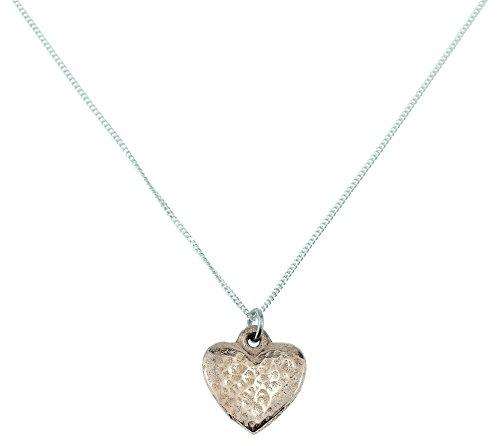 Herzanhänger, 100 % Kupfer, gehämmertes Herz, Geschenk zum 7. Hochzeitstag