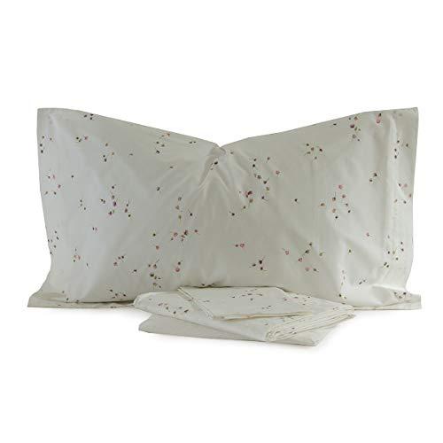 Zucchi Bettwäsche Doppelbett Perkal aus reiner Baumwolle Artikel Ginny Farbe Elfenbein 8Maße 240x 280