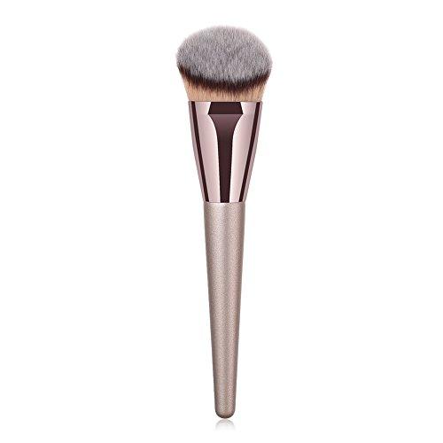 Wicemoon Tube en Aluminium Cosmétique Brush Soyeux et Denses Makeup Brushes Poignée en Bois pour Produits de Toute Consistance